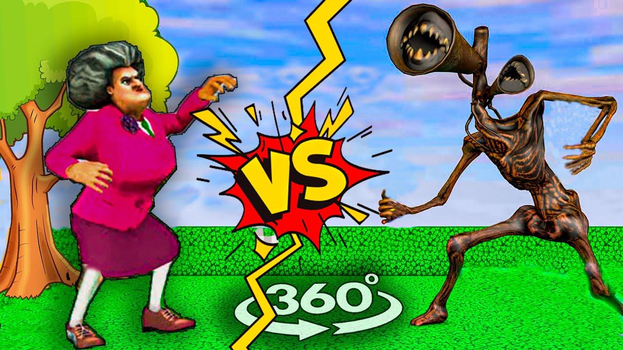 Scary Teacher VS Siren Head | Epic Fail Siren Head 2021🤣 | 360 Video [4k]