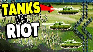 RIOTERS vs. ARMY TANK & MILITARY POLICE | Riot: Civil Unrest Gameplay