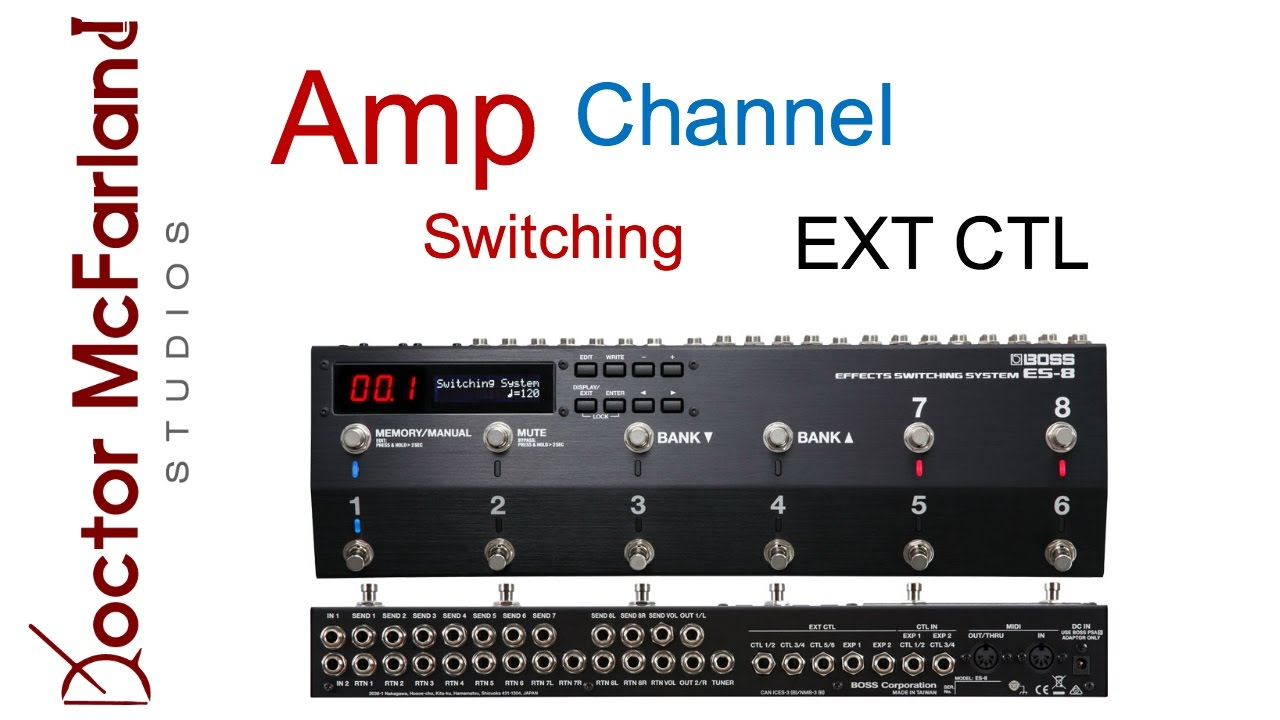 boss es 8 amp channel switching tutorial youtube. Black Bedroom Furniture Sets. Home Design Ideas