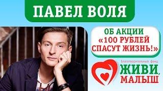 """Павел Воля об Акции """"100 рублей спасут жизнь""""."""