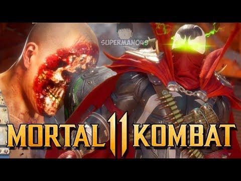 """The Insane Spawn 5 Krushing Blow Combo! - Mortal Kombat 11: """"Spawn"""" Gameplay"""