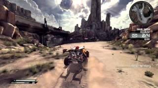 Rage PC Gameplay (Driving) (HD5750)