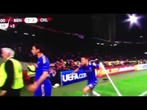 Branislav Ivanovic Last Minute Goal - Benfica vs. Chelsea! Euro League Final 2013