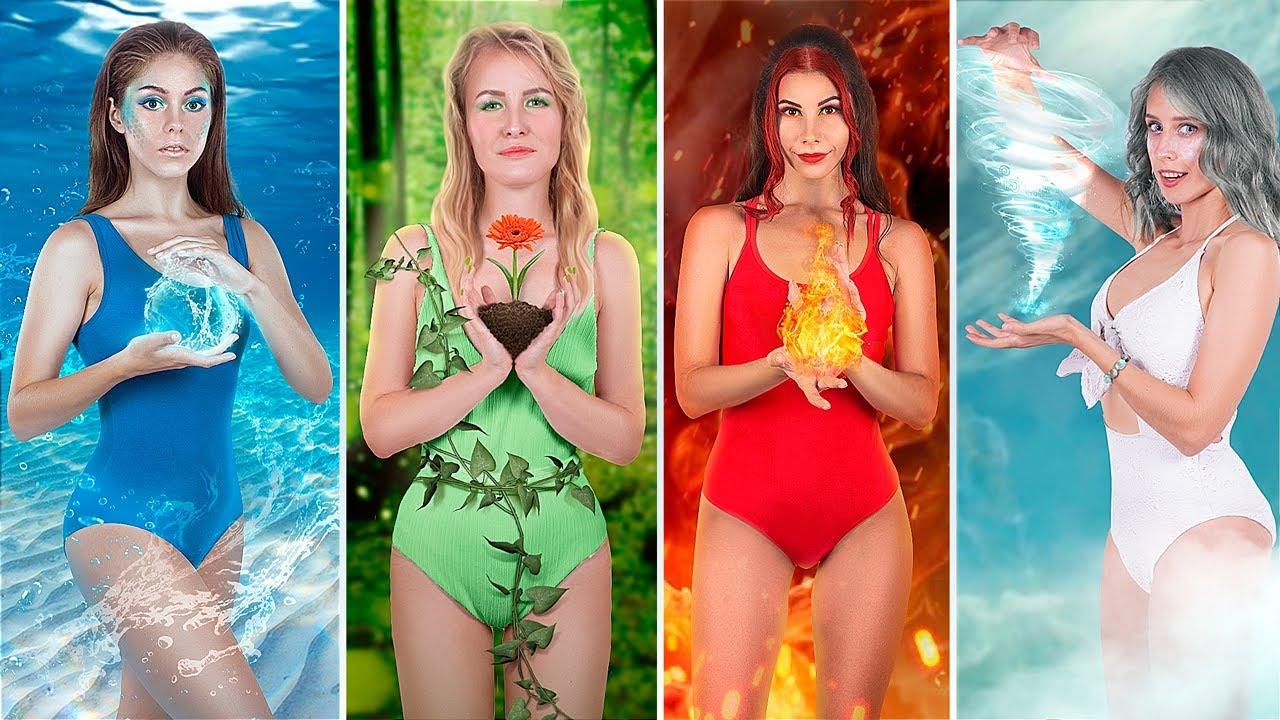 Девушка-огонь, вода, воздух и земля! / Вечеринка для 4 стихий!