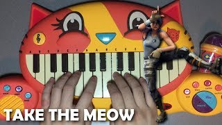 FORTNITE TAKE THE L... but it's played on a CAT PIANO!