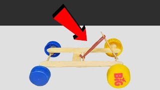 How to make Rubber Band Powered CAR | diy toy car | Make Powered Car