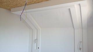 12. Дизайн : параллельные короба, потолок из гипсокартона.  Plasterboard ceiling.(Прямые параллельные короба, потолок с переходом на стену, натяжной по центру. Все подробности монтажа и..., 2014-11-11T22:11:52.000Z)