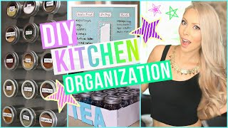 DIY Kitchen Organization Ideas!