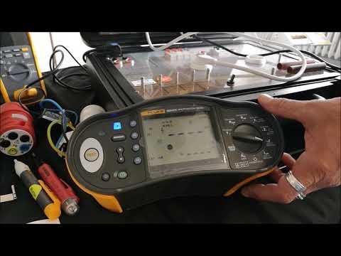 Fluke 1664 FC VDE 0100 Messen pruefen Fi RCD Pruefung Messung mit festem ansteigendem Auslösestrom