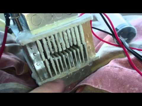 TEC thermoelectric Peltier device making ice- air conditioner