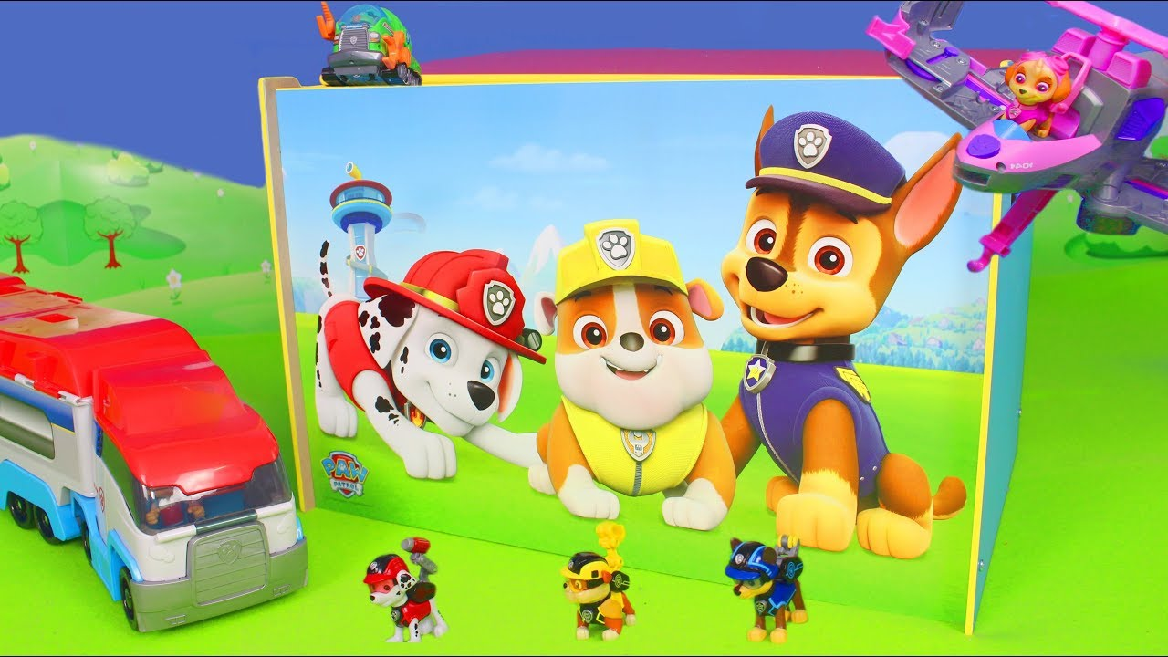 paw patrol unboxing ryder chase feuerwehrmann marshall. Black Bedroom Furniture Sets. Home Design Ideas
