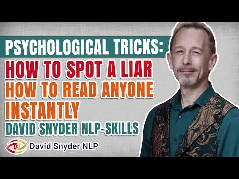 FREE NLP Training: How To Spot a Liar - David Snyder