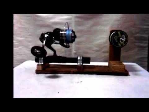 Spooling Shimano Spheros SW6000HG using DIY line spooler