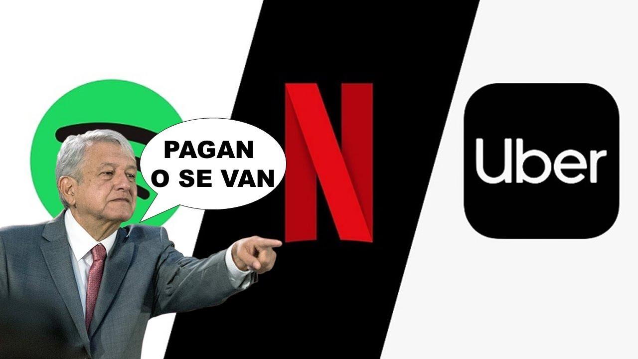 SPOTIFY, NETFLIX Y UBER PODRIAN IRSE DE MEXICO Y PRECIO DEL INTERNET SUBIRA