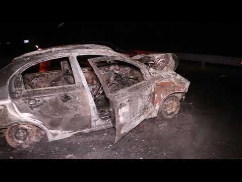 Под Киевом Chevrolet протаранил Land Rover и сгорел дотла: пострадали три человека