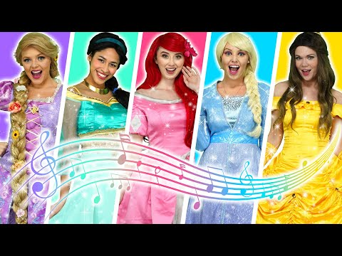 DISNEY PRINCESS SONGS MEDLEY– MUSIC VIDEO  WITH FROZEN ELSA, BELLE, ARIEL, RAPUNZEL & TIANA  Totally