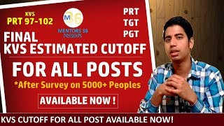 KVS Cutoff Estimation 2019 for All Posts Check Now Yours by Mentors 36