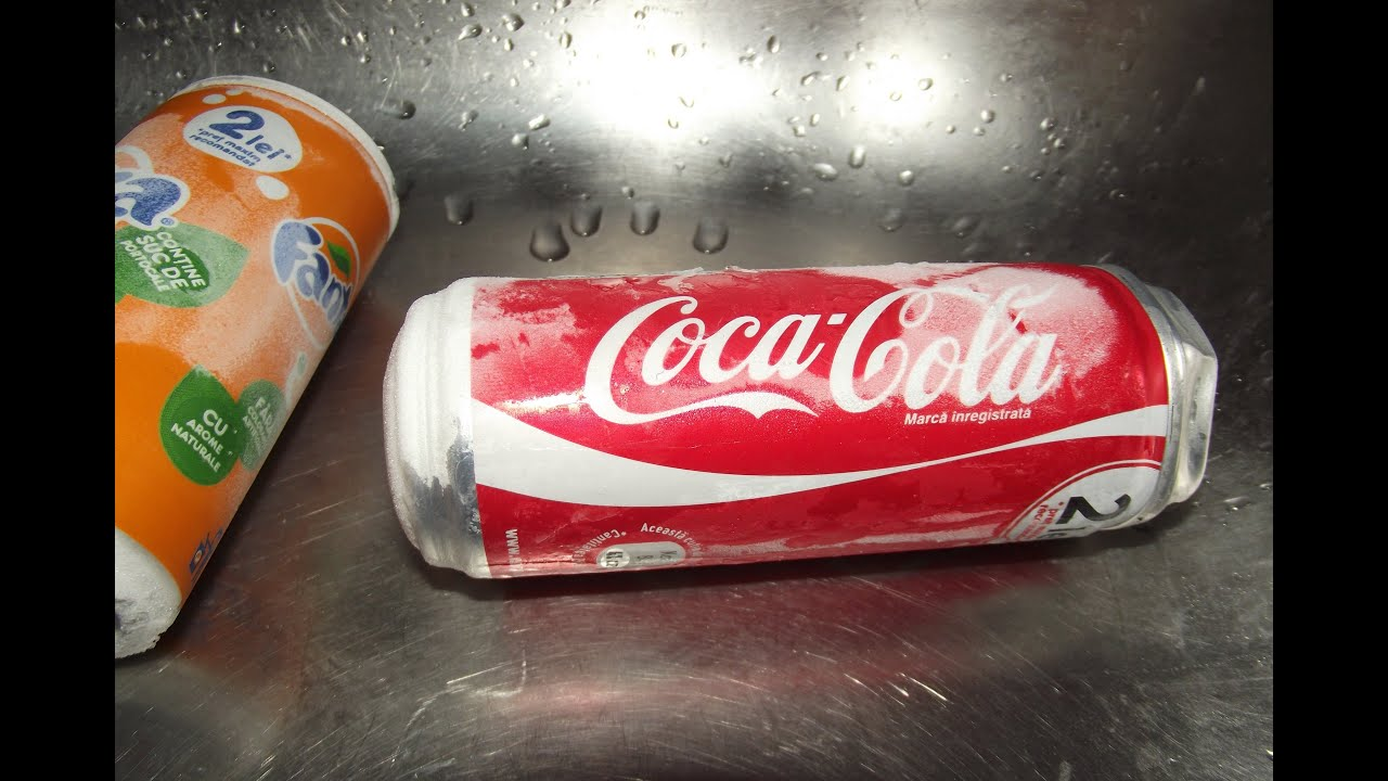 What happens when you put a coke can in freezer youtube for Coke can heater