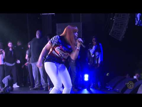 Faith Evans Performs at the HOT 97 TIPOFF Show w Puff Daddy
