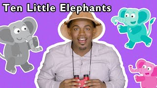 Ten Little Elephants + More | Mother Goose Club Playhouse Songs & Rhymes