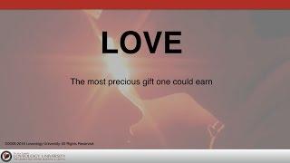 "Loveology University – ""Love"" Course Sneak Preview!"