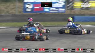 2018 IAME Euro Series Round 4 Castelletto Italy Second chance heat Senior thumbnail