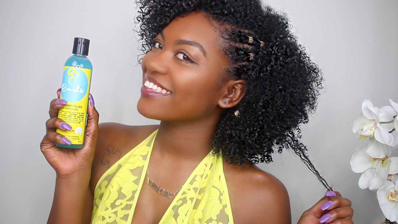Quick and Easy Wash N Go & Twist on Dry Hair ft Curls Blueberry Bliss   15 MIN HAIRSTYLE - YouTube
