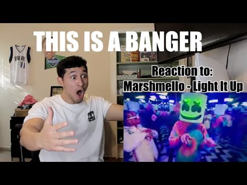ITS A BANGER - Marshmello - Light It Up ft Tyga & Chris Brown    - REACTION