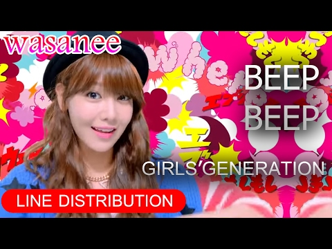 Girls' Generation/Snsd - Beep Beep - Line Distribution (Color Coded MV)