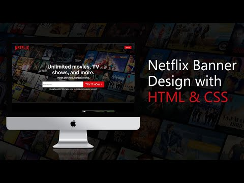 Netflix Website Banner Design With HTML & CSS Only With Responsive