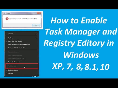 How To Enable Task Manager And Registry Editor On Windows - How To?