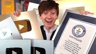 I got the YOUTUBE PLAY BUTTON Guinness World Record!