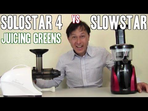 Slowstar vs Solostar 4 Cold Press Juicer Comparison: Leafy Greens