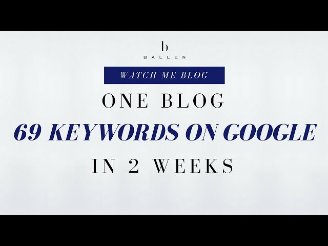 WordPress Blog | One blog, 69 Keywords on Google in 2 weeks [Step 6][9:15]