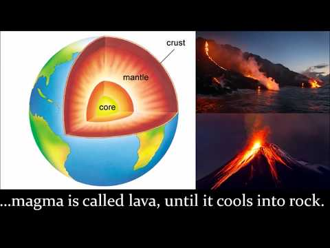 The Earth's crust: tectonic plate movement, volcanoes, tsunami, earthquakes