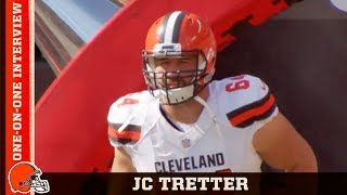 Browns offensive lineman JC Tretter sits down with Nathan Zegura to...