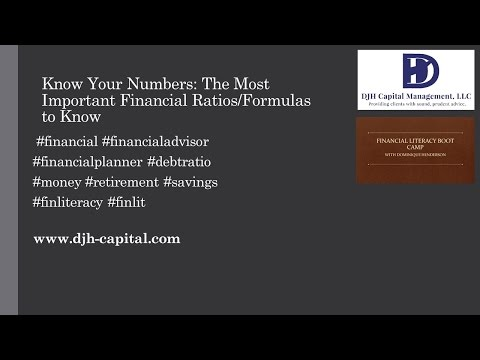 Know Your Numbers:  The Most Important Financial Ratios/Formulas to Know