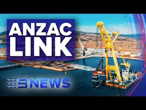 Australian Building Team Helping Build Longest Suspension Bridge   Nine News Australia