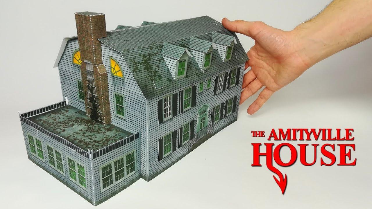 diy maison d amityville en papier papercraft film d horreur youtube. Black Bedroom Furniture Sets. Home Design Ideas
