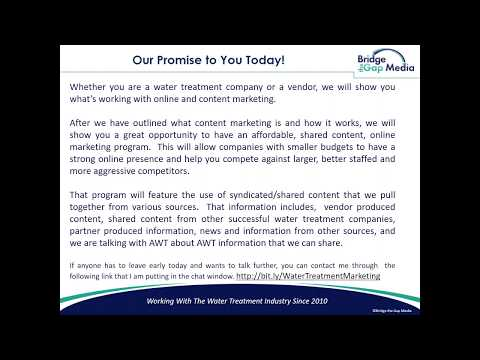 Commercial Water Treatment Content Marketing - Association
