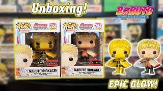 Naruto Hokage AAA Anime Exclusive Funko Pop Glow Chase Unboxing   Boruto Naruto Next Generations