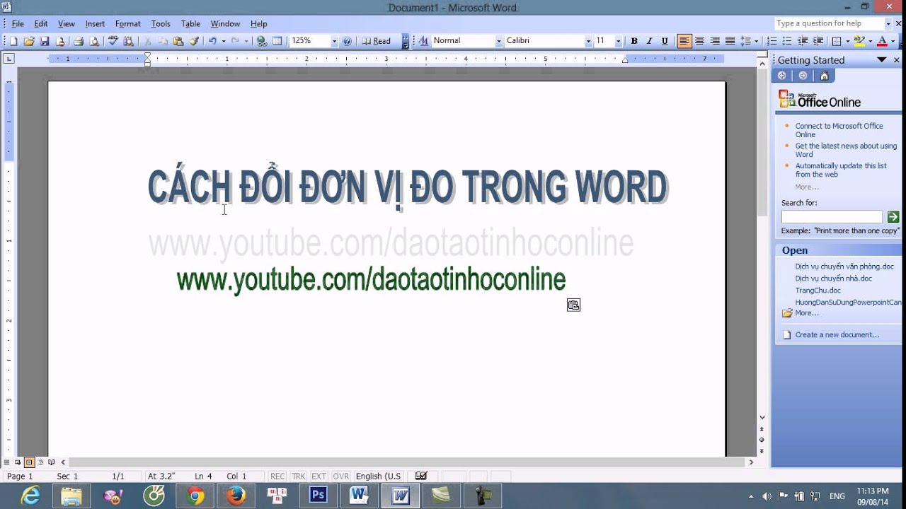 Hướng dẫn cách đổi đơn vị đo trong Word từ inch sang cm