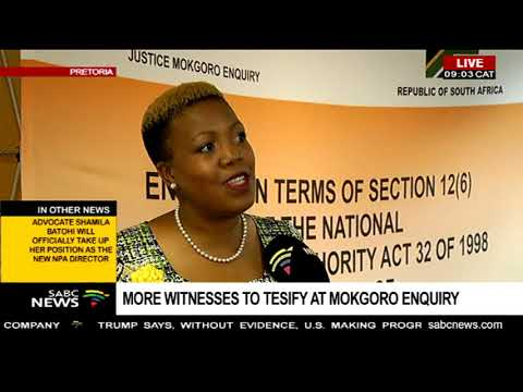 Latest from the Mokgoro Enquiry