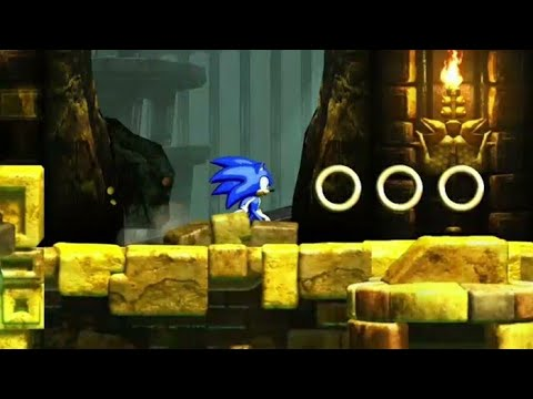#9 (Gameplay de Sonic 4 episode 1) (Lost labyrinth zone act 1 Ancient Maze of Mystery)  