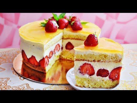 Торт ФРЕЗЬЕ (Fraisier)- французский популярный десерт, безумно вкусный!