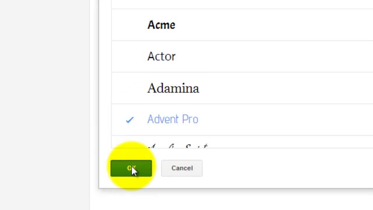 Font type/size on Google Docs?