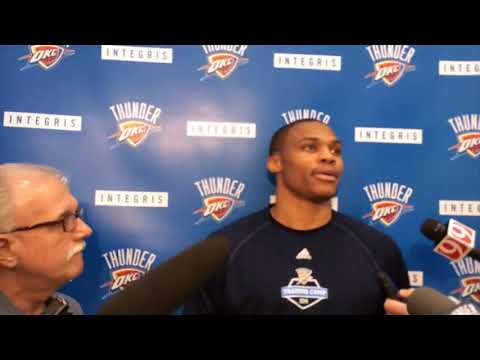 Thunder: Russell Westbrook press conference (2014-11-08)