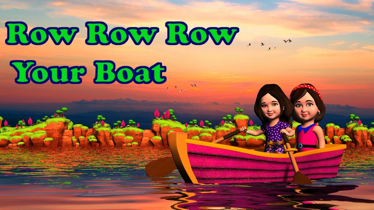Row row row your boat song and lyrics