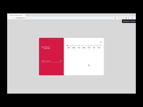 Speed Coding Calendar - JS, HTML, CSS