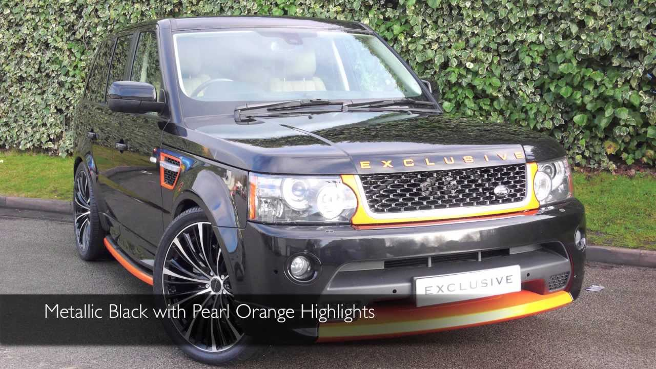 Exclusive cars gb land rover range rover sport autobiography metallic black with pearl orange
